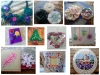 Jewellery, mosaic, quilling, and felt