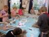 summer art class clay