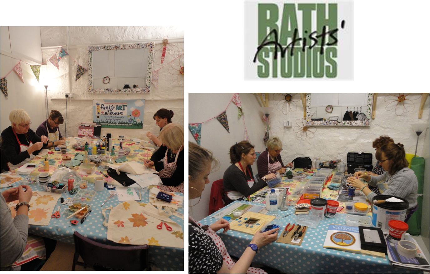 Adult craft parties funky art house for Funky house artists