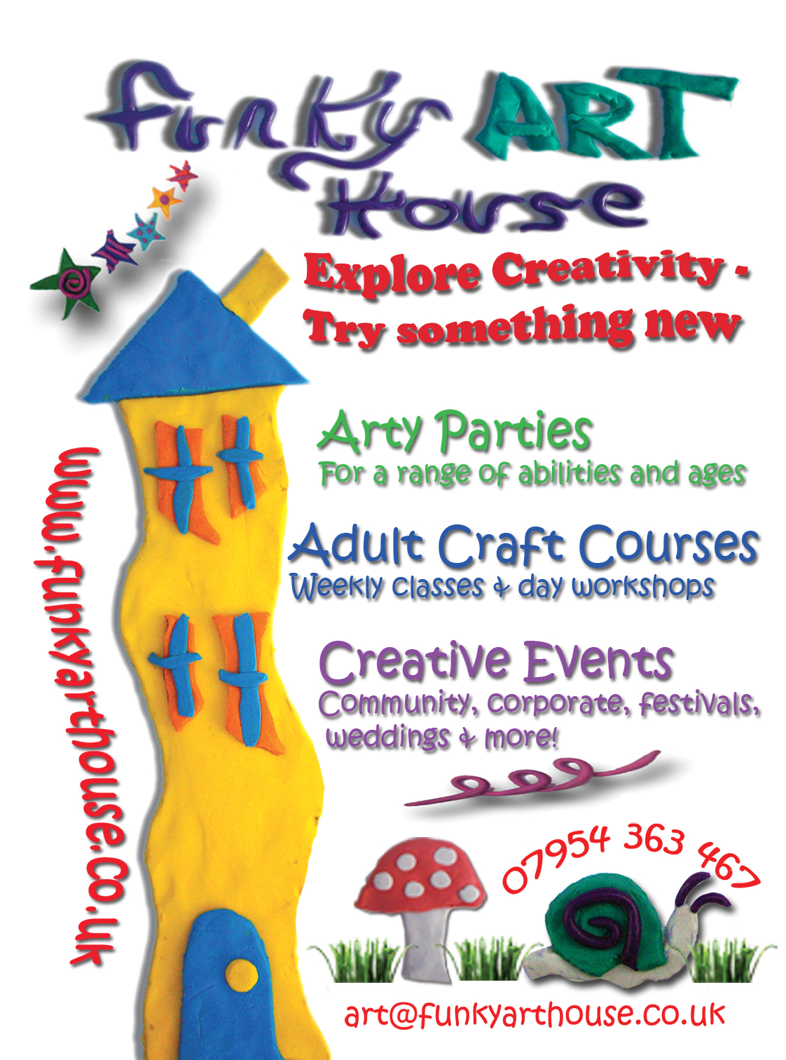 Contact funky art house for Funky house artists