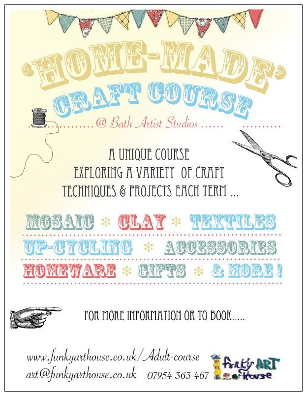 Adult workshops funky art house for Crafts classes for adults